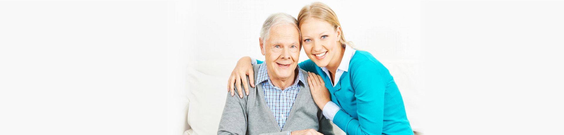 caregiver and elderly man